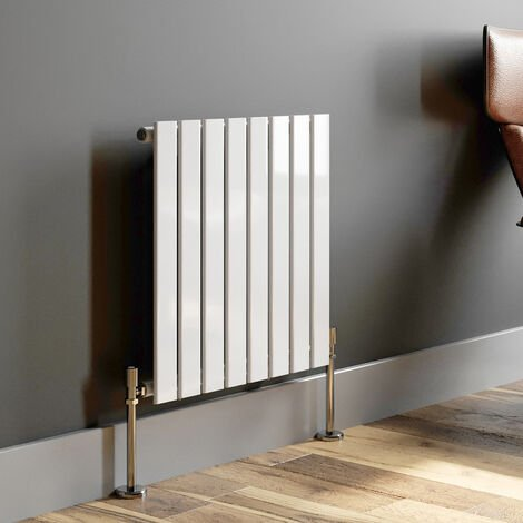 600x604mm Modern Horizontal Radiator Heater Single Flat Panel Column White