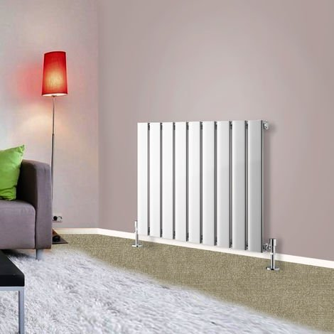 600x612 Horizontal Flat Panel Radiator Bathroom Central Heating Radiators Single Column Chrome