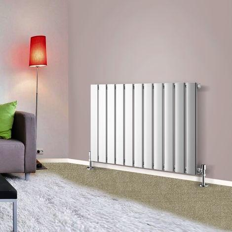 600x748 Horizontal Flat Panel Radiator Bathroom Central Heating Radiators Single Column Chrome