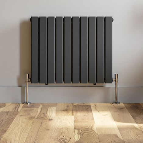 600x760mm Anthracite Designer Radiator Horizontal Flat Panel Double Panel Rad