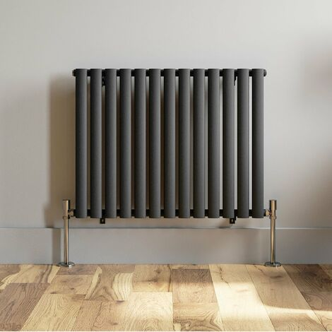 600x780mm Horizontal Oval Column Designer Radiator Horizontal Anthracite