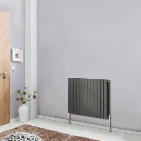 600x884 Horizontal Flat Column Designer Radiator Bathroom Heater Central Heating Double Panel Anthracite