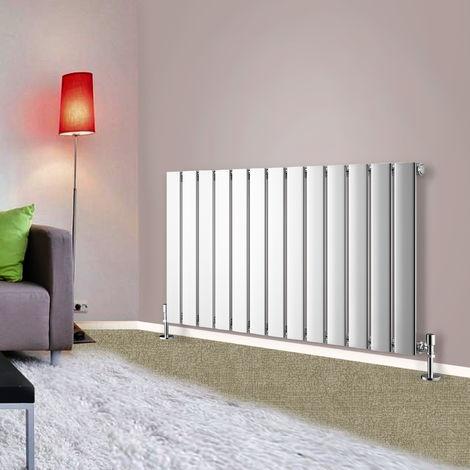 600x884 Horizontal Flat Panel Radiator Bathroom Central Heating Radiators Single Column Chrome