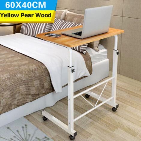 60*40*(70-80)cm Removable Laptop Desk Stand Laptop Table Height Adjustable Computer Desk Wheel Sofa Bed