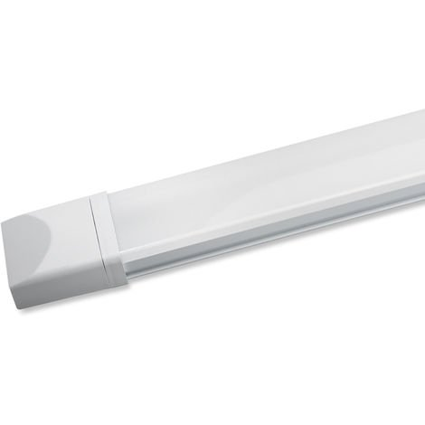60cm (2ft) 1500LM 18W IP65 Natural White LED Tube LED Batten Tri-Proof Diffuser Luminaire Basement Garage Ceiling Light