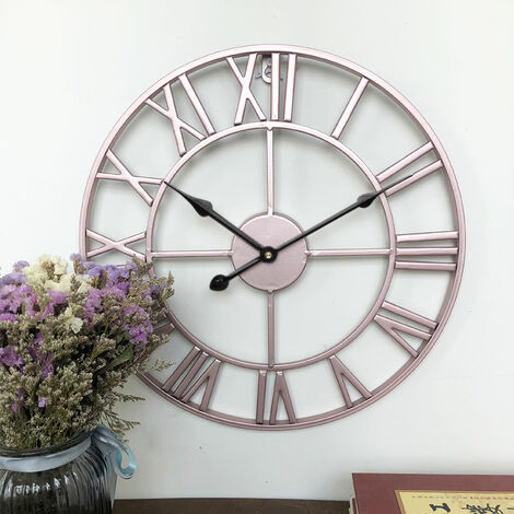 "main image of ""60CM Metal Round Wall Clock Rose Gold"""