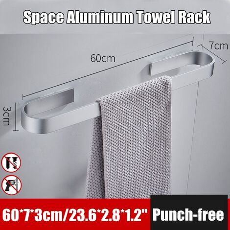 60cm Single Rod Towel Bar Bathroom Toilet Bar Shower