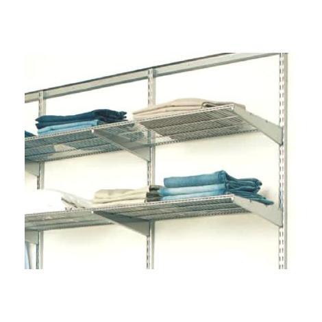 60cm x 40cm Elfa Ventilated Shelf (450380) - Platinum