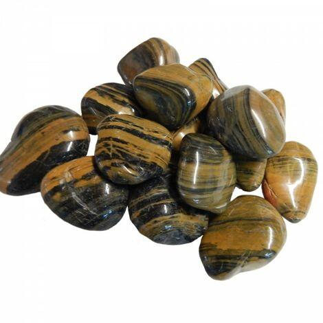 60kg galets polis, gravier brillant, galets de rivière, cailloux, cailloux de jardin, gravier décoratif #