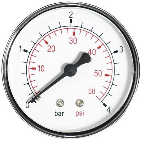 60mm 10bar 150psi Pressure Gauge Water 1/4inch Bspt Rear Entry Manometer