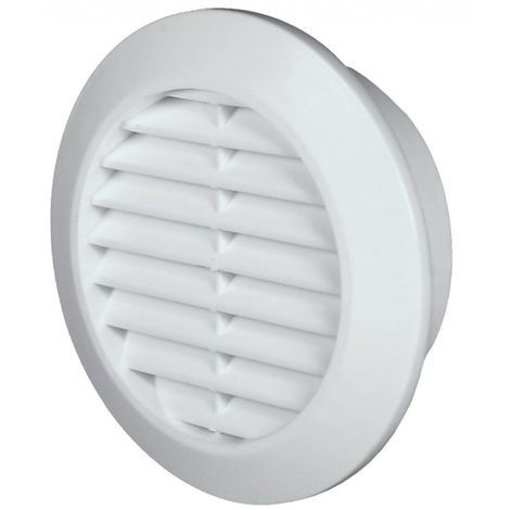 60mm Diameter Hole White Round Door Air Vent Grille Woodwork Furniture