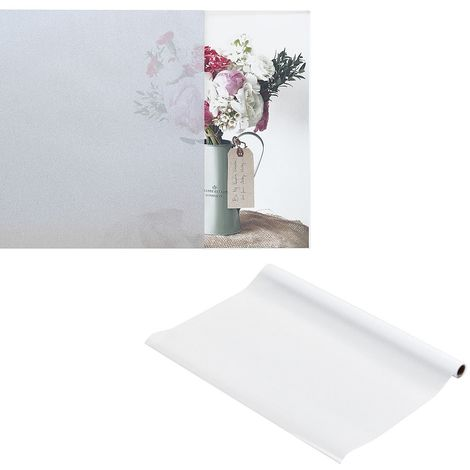 60x100CM Static Window Film Frosted Glass Self-adhesive Deco Privacy Film