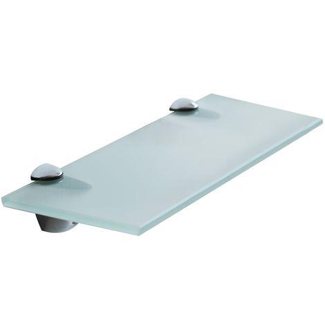 60x10CM glassato vetro satinato scaffale di vetro parete scaffale bagno