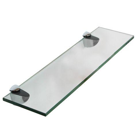 60x10CM Scaffale in vetro a parete Scaffale bagno