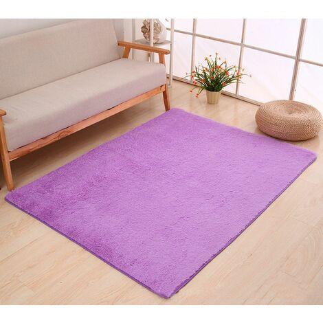 60x160cm Moelleux Tapis Shaggy Zone Tapis Salle À Manger Chambre Tapis Tapis De Sol Violet Violet - Violet