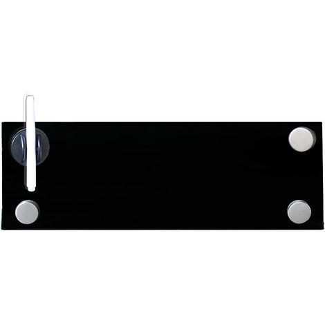 60x20 Tableau magnétique en verre Tableau magnétique noir