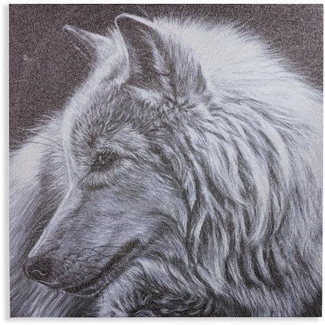 60x60cm Glitterati Glitter Wolf 004313