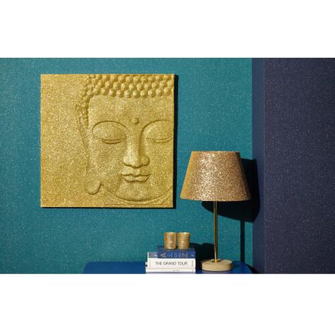 60x60cm Gold Glitter Buddha 004299