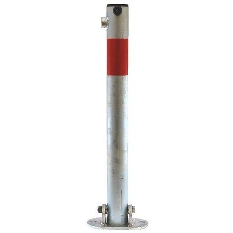 610G Fold Down Galvanised with Red Band Parking Post (001-0042 K/D, 001-0032 K/A)