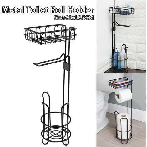 61x16.5x16.5cm 1Pc Durable Steel Vertical Tissue Holder With Rust Resistant Finish Easy To Assemble And Clean, Home Storage Rack