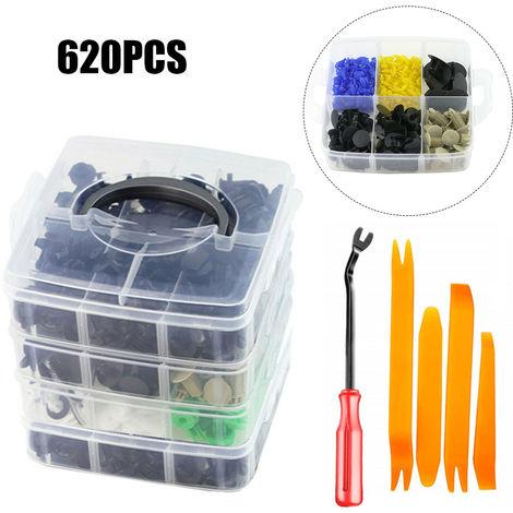 620PCS Car Body Push Pin Bumper Buckle Moulding Clip Kit Automobile Door Panel Fastener