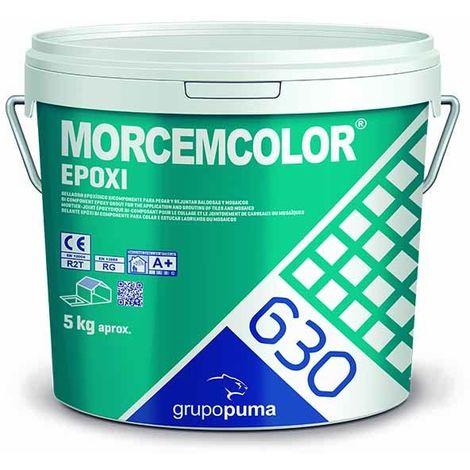 630 Morcemcolor Epoxi RG Blanco: Mortero de colocación y rejuntado epoxi bicomponente para juntas de 1 a 15 mm. Bote 5 kg