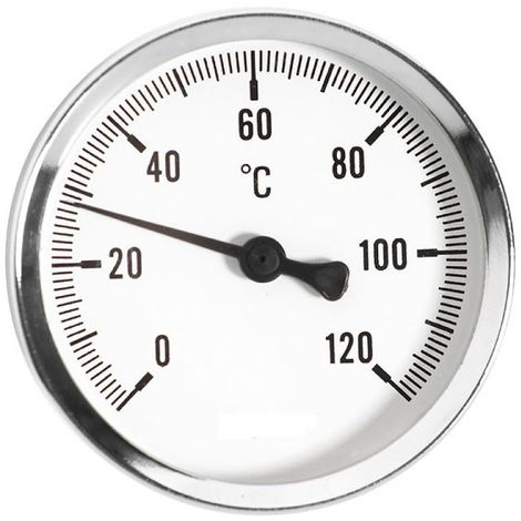 63mm 0-120C Thermo Temperature Gauge 1/2inch Rear Entry Thermometer