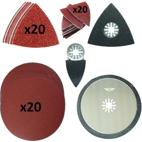 63pcs TopsTools Multitool Sanding Kit - UNKA63SKA