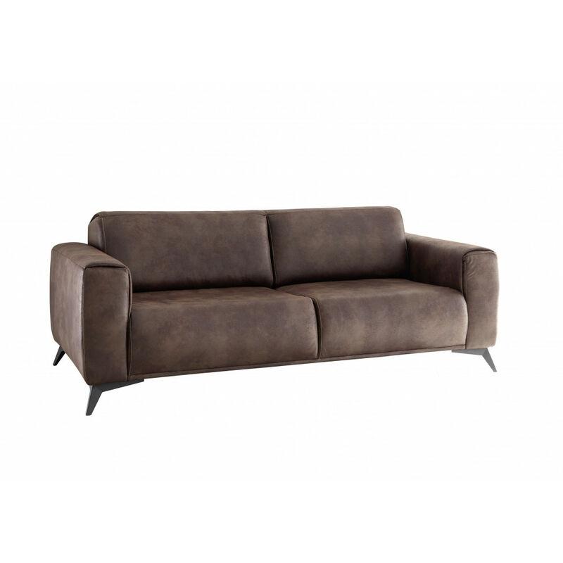 Black Red White - PUEBLO 2,5-Sitzer Vintage Braun Sitzsofa Schlafsofa Lounge ca. 185 cm-'SW14155'