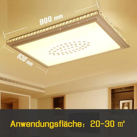 64W LED Deckenlampe Stern Diamant Kristall Deckenleuchte ...