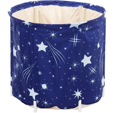 65 * 70cm PVC Portable Bathtub Water Tube Adult Spa Bath Outdoor Foldable Bucket