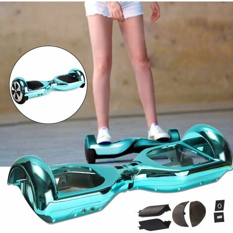 """6.5 """"Chrome Blue Electric Scooter Replacement Cover Self Balance Shell With Bumper WASHED"""