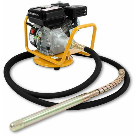 6,5 CV Vibrador de hormigón a gasolina (6 m Manguera, 45 mm Botella vibrante, 4800 W Motor de 4 tiempos, refrigerado por aire, Base giratorio)