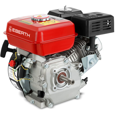 6,5 HP 4,8 kW petrol engine (19,05mm Ø shaft with external thread, low oil level indicator, 1 cylinder, 4-stroke 196cc, air cooled, cable start)