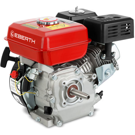 6,5 HP 4,8 kW petrol engine (19mm Ø conical shaft, low oil level indicator, 1 cylinder, 4-stroke 196cc, air cooled, cable start)