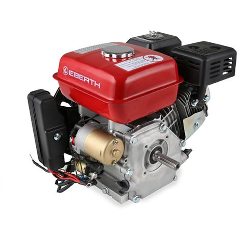 6.5 HP 4.8 kW Petrol Engine (E-Start, 20 mm Shaft, Low Oil Protection, Air-cooled Singel Cylinder 4-stroke Engine, Recoil Start, Alternator, Battery) Motor