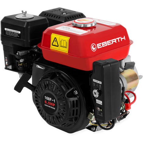 6.5 HP Petrol Engine with Oil Bath Clutch (E-Start, 20 mm Shaft, Low Oil Protection, Air-cooled Singel Cylinder 4-stroke Engine, Recoil Start) Motor