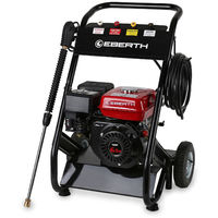 6.5 HP Petrol High Pressure Washer (210 bar, 4 Quick Fit Nozzels, 5 m High Pressure Hose, Heavy Duty Lance, 196 cc 4-stroke Engine, Low Oil Protection, Recoil Start)