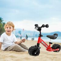 "6.5"" Kids Balance Bike Boys Girls Widen Wheel Training Bicycle For Road Beach"