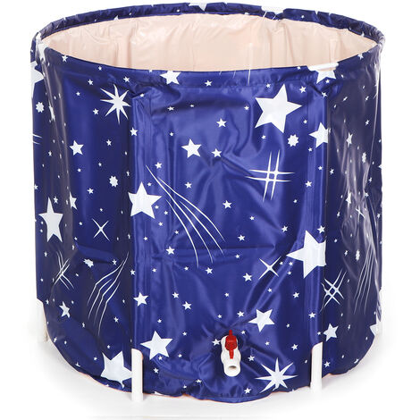 65 x 70 cm Foldable Bathtub Portable Spa Bathtub