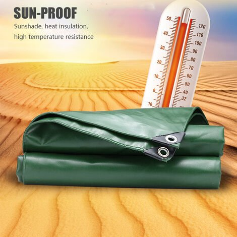 650gsm Waterproof Tarpaulin Cover PVC Coated Cloth Canopy Tent Cover