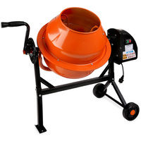 65L Concrete Mixer (220 Watts, 2 Wheels, Base plate, Robust Engine, Sturdy Rack) Cement Mixing Machine