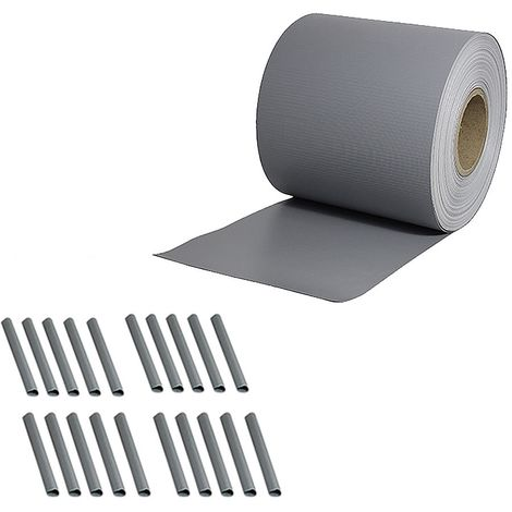 65M PVC fence foil privacy screen double rod mats fence light grey roll opaque