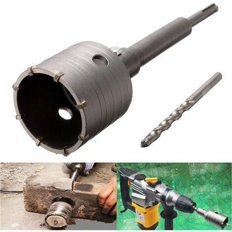 65mm SDS PLUS Concrete Brick Cement Stone Wall Saw Hole Drill Bit Cutter Set