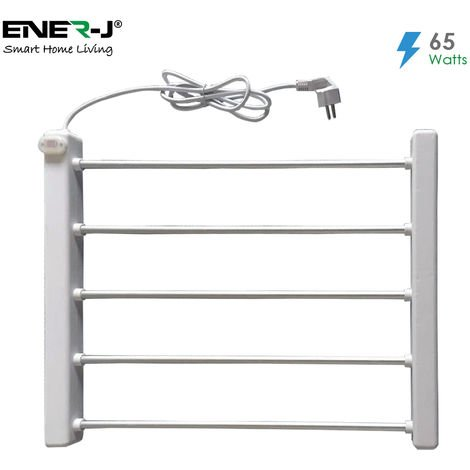 65W Heated Towel rail with BS Plug