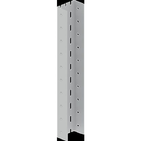 66 Perfil U perforado gris RAL7035 0,25 m Acero epoxy UNEX 66908