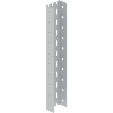 66 Perfil U perforado gris RAL7035 0,50 m Acero epoxy UNEX 66938