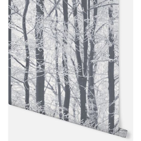 670200 - Frosted Wood Silver - Arthouse Wallpaper
