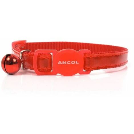 670820 - Gloss Reflective Safety Buckle Cat Collar Red