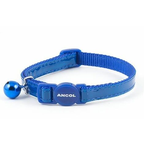 670840 - Gloss Reflective Safety Buckle Cat Collar Blue